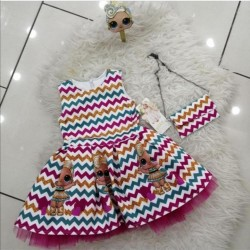 Baby dress for girls Turkish made in modern design multicolour LOL