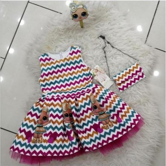 Baby dress for girls Turkish made in modern design multicolour LOL
